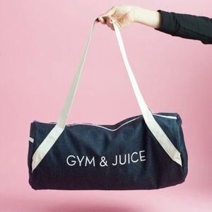 Handbags - NEW Gym & Juice Bag Duffle Denim Fabfitfun